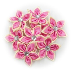 Satin Flower Stone Light Pink #513 - 6pcs