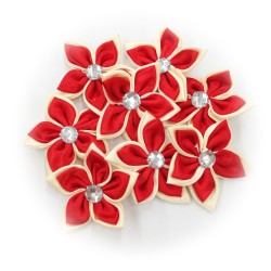 Satin Flower Stone Red #519 - 6pcs