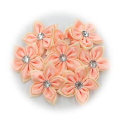 Satin Flower Stone Peach #521- 6pcs