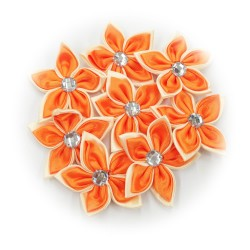 Satin Flower Stone Orange #523 - 6pcs