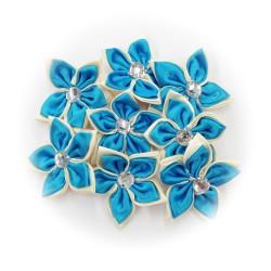Satin Flower Stone Turquoise #547 - 6pcs