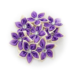 Satin Flower Stone Purple #559 - 6pcs