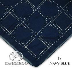 "#17 CZ Crystal & Kangaroo Premium Voile Scarf Tudung Bawal Plain 45"" Navy Blue"