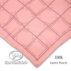 "#330L CZ Crystal & Kangaroo Premium Voile Scarf Tudung Bawal Plain 45"" Light Peach"