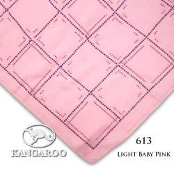 "#613 CZ Crystal & Kangaroo Premium Voile Scarf Tudung Bawal Plain 45"" Light Baby Pink"