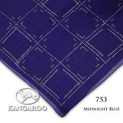 "#753 CZ Crystal & Kangaroo Premium Voile Scarf Tudung Bawal Plain 45"" Midnight Blue"