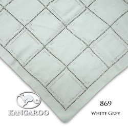 "#869 CZ Crystal & Kangaroo Premium Voile Scarf Tudung Bawal Plain 45"" White Grey"