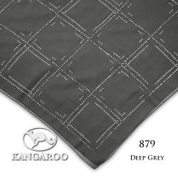 "#879 CZ Crystal & Kangaroo Premium Voile Scarf Tudung Bawal Plain 45"" Deep Grey"