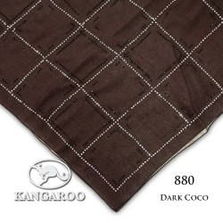 "#880 CZ Crystal & Kangaroo Premium Voile Scarf Tudung Bawal Plain 45"" Dark Coco"