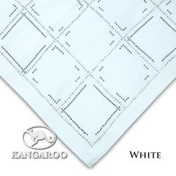 "#WHT CZ Crystal & Kangaroo Premium Voile Scarf Tudung Bawal Plain 45"" White"