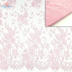 #5001 French Lace Fabric Wide 60 inchLight Pink - 3 Meters