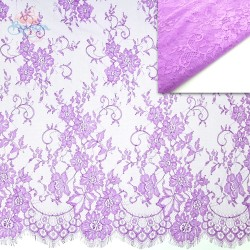 #5001 French Lace Fabric Wide 60 inchLight Purple - 3 Meters