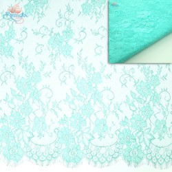 #5001 French Lace Fabric Wide 60 inchMint Green - 3 Meters