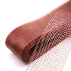 12cm Horsehair Braid Nylon Net Brown - 1meter