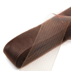 12cm Horsehair Braid Nylon Net Chocolate - 1meter