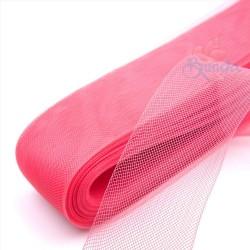 12cm Horsehair Braid Nylon Net Crimson Pink - 1meter