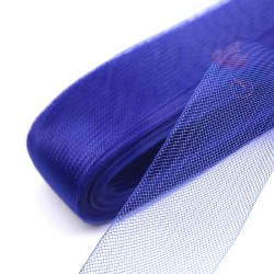 5cm Horsehair Braid Nylon Net Electric Blue - 1meter