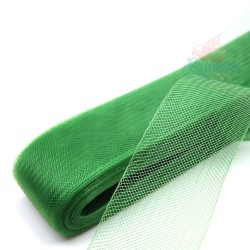 12cm Horsehair Braid Nylon Net Green - 1meter