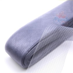 5cm Horsehair Braid Nylon Net Light Grey - 1meter