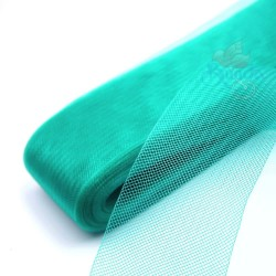 12cm Horsehair Braid Nylon Net Teal - 1meter