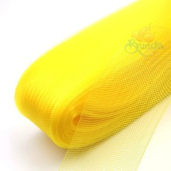 12cm Horsehair Braid Nylon Net Yellow - 1meter