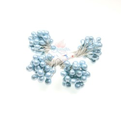 H104 Stigma Flower Inti Bunga Metallic Sky Blue - 1 Bunch