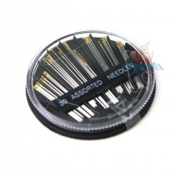 30pcs Senorita Assorted Hand Sewing Needles Gold