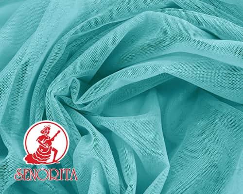 "Tulle Net Soft Bridal Netting |215A Wide 60"" A385 Aqua Blue"