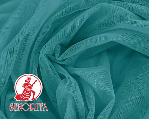 "Tulle Net Soft Bridal Netting |215A Wide 60"" A539 Deep Aqua"