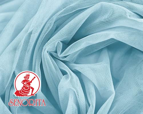 "Tulle Net Soft Bridal Netting |215A Wide 60"" A541 Baby Blue"