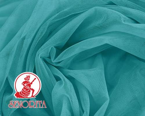 "Tulle Net Soft Bridal Netting |215A Wide 60"" A544 Dark Aqua"