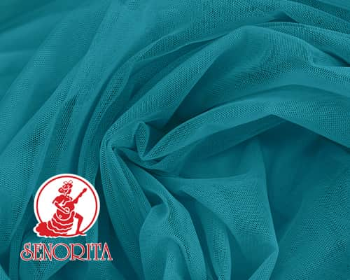 "Tulle Net Soft Bridal Netting |215A Wide 60"" A555 Teal"