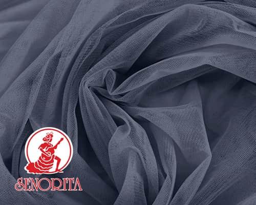 "Tulle Net Soft Bridal Netting |215A Wide 60"" A578 Steel Grey"