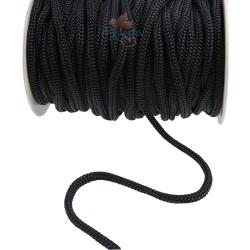 Braid Nylon Cord Black 6mm - 1 Meter