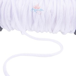 Braid Nylon Cord White 6mm - 1 Meter