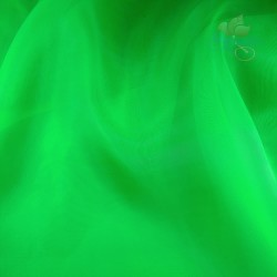 "Organdy Fabric Bright Green 60"" Wide - 1 Meter"
