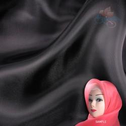 "Senorita Organdy Scarf Tudung Plain 45"" Black - #580"