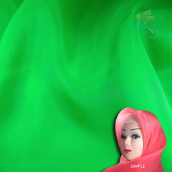 "Senorita Organdy Scarf Tudung Plain 45"" Bright Green - #876"