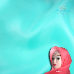 "Senorita Organdy Scarf Tudung Plain 45"" Bright Teal - #533"