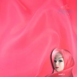 "Senorita Organdy Scarf Tudung Plain 45"" Crimson Pink - #397"
