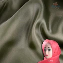 """Senorita Organdy Scarf Tudung Plain 45"""" Dark Army - #A315"""
