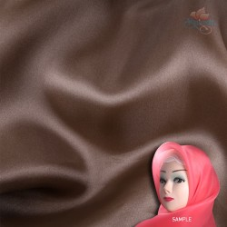 "Senorita Organdy Scarf Tudung Plain 45"" Dark Coco Brown - #868"