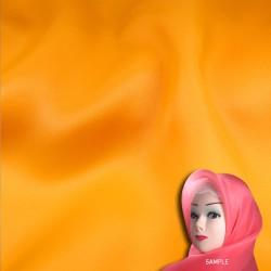 "Senorita Organdy Scarf Tudung Plain 45"" Gold Orange - #A847"