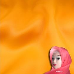 "Senorita Organdy Scarf Tudung Plain 45"" Gold Orange - #A847"