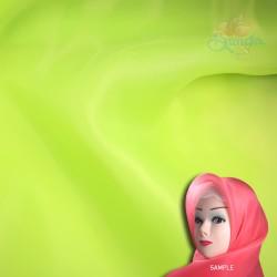 "Senorita Organdy Scarf Tudung Plain 45"" Grass Green - #535"