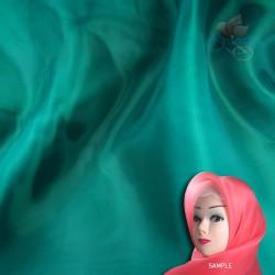 "Senorita Organdy Scarf Tudung Plain 45"" Green - #540"