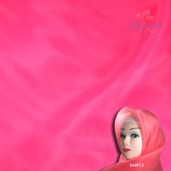 "Senorita Organdy Scarf Tudung Plain 45"" Hot Pink - #516"