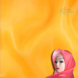 "Senorita Organdy Scarf Tudung Plain 45"" Light Orange - #056"