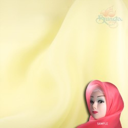 "Senorita Organdy Scarf Tudung Plain 45"" Light Yellow - #054"