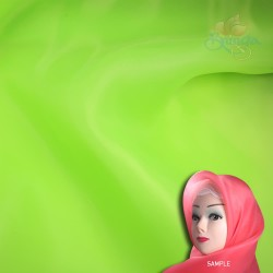 "Senorita Organdy Scarf Tudung Plain 45"" Lime Green - #047"